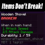 Мод Items Don't Break для minecraft 1.14.3, 1.13.2, 1.12.2
