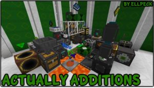 Мод Actually Additions для minecraft 1.12.2, 1.10.2, 1.7.10