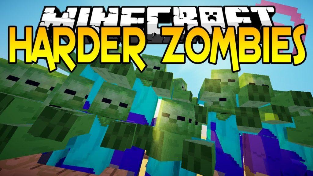 Мод на сложных зомби - CrackedZombie для minecraft 1.12.2
