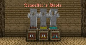 Мод Traveller's Boots для minecraft 1.16.3, 1.15.2, 1.14.4, 1.12.2