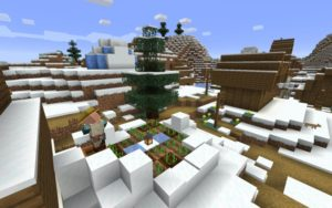 Сид с зимней деревней для майнкрафт 1.14.4