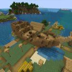 Сид - деревня с разрушенным кораблём minecraft 1.14.4