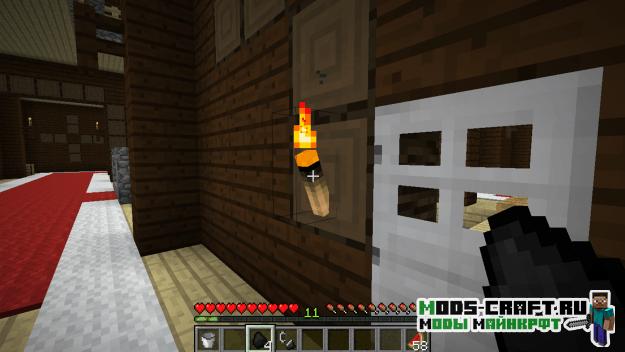 Мод на сгораемые факела -  Burning Torches 1.15.2, 1.14.4, 1.12.2