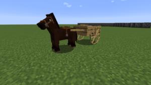 Мод на тележки для лошадей Horse Carts 1.14.4, 1.12.2, 1.7.10