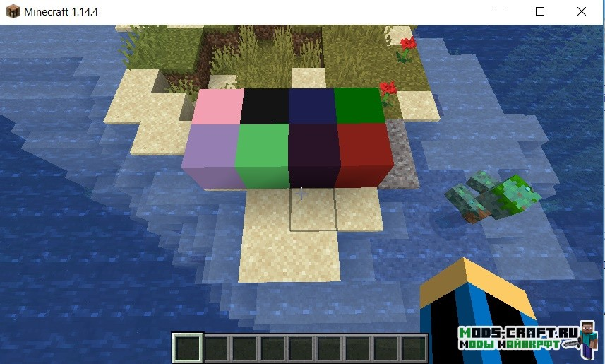 Мод Coloration на цветные блоки для minecraft 1.14.4