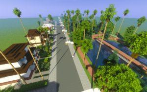 Карта город Los Angeles для minecraft 1.14.4, 1.12.2