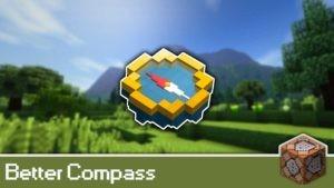 Мод на улучшенный компас Better Compass для minecraft 1.14.4, 1.12.2