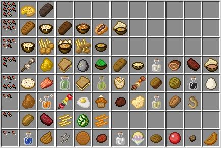 Мод VanillaFoodPantry для minecraft 1.14.4, 1.12.2, 1.11.2