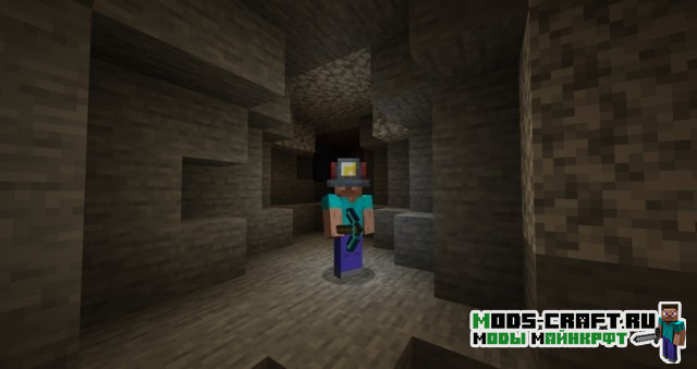 Мод на шлем шахтёра для майнкрафт 1.15.2, 1.14.4