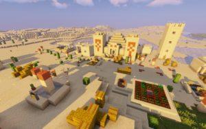 Храм в пустыне и деревня с кузницей [1.14.4]