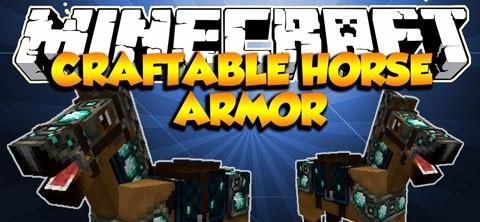 Мод Craftable Horse Armor для minecraft 1.14.4, 1.12.2, 1.7.10