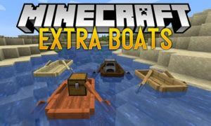 Мод на новые лодки - Extra Boats для minecraft 1.15.2, 1.14.4