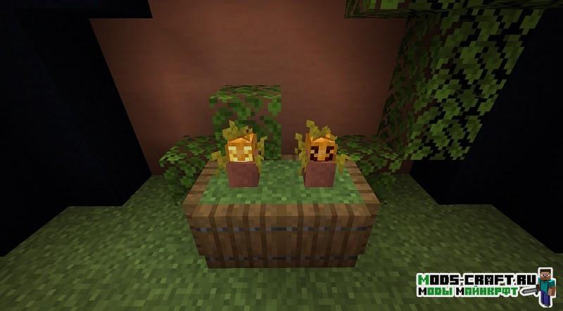 Мод на горшки для цветов Florist minecraft 1.14.4