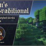 Steven's Traditional [64x] для майнкрафт 1.15, 1.14.4