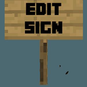 Мод Edit Sign для майнкрафт 1.16.5, 1.15.2, 1.14.4
