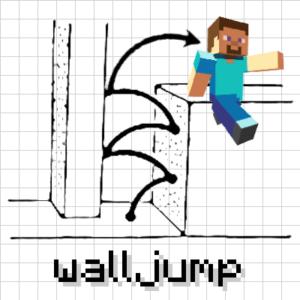 Мод Wall-Jump! для майнкрафт 1.16.3, 1.15.2, 1.14.4, 1.12.2
