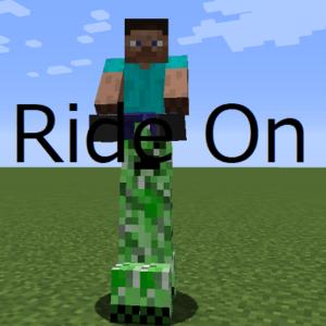 Мод RideOn для майнкрафт 1.16.3, 1.15.2, 1.14.4, 1.12.2, 1.7.10