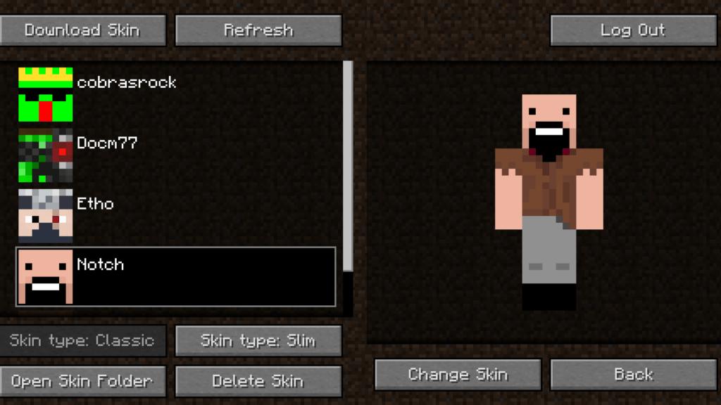 Мод на смену скинов - Skin Swapper 1.16.3, 1.15.2, 1.14.4