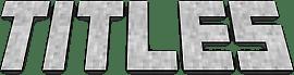 Мод Titles для майнкрафт 1.12.2