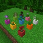 Мод Dyeable Flower Pots для майнкрафт 1.15.2