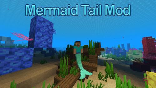 Мод Mermaid Tail для майнкрафт 1.15.2