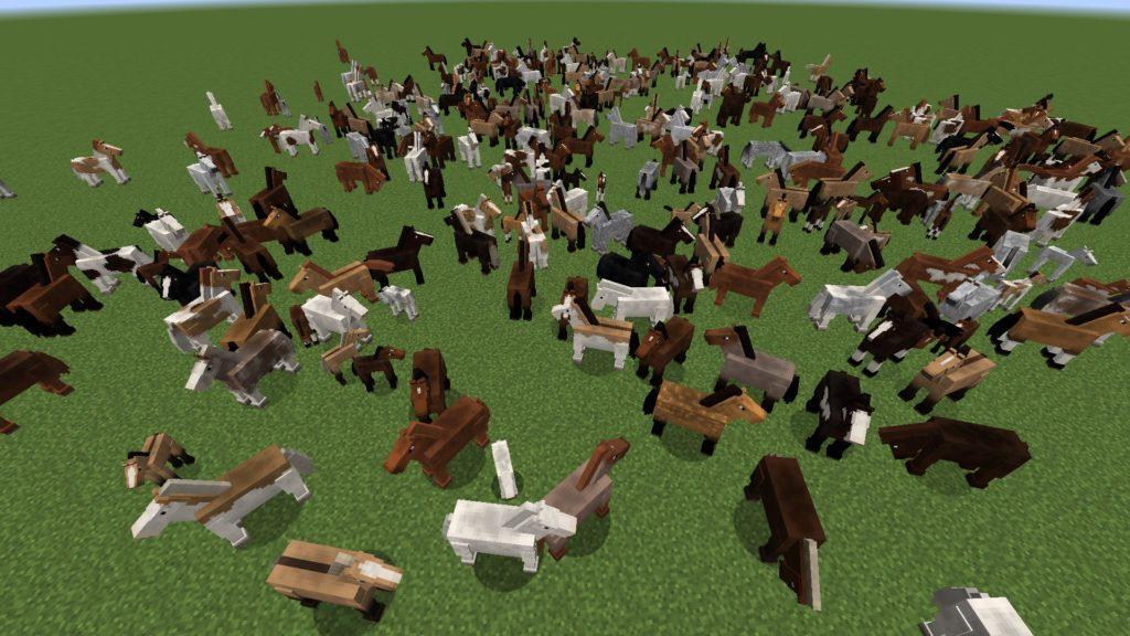 Мод Realistic Horse Genetics для майнкрафт 1.15.2, 1.14.4, 1.12.2
