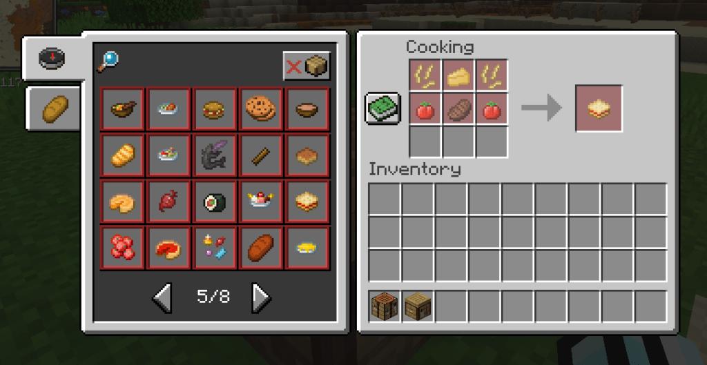 Мод на кулинарный стол - Cooking Table для майнкрафт 1.15.2