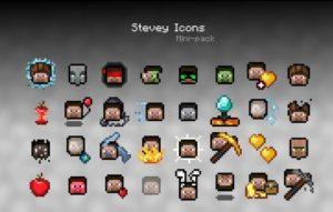 Stevey/Alex Icons для майнкрафт 1.15.2