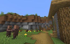 Деревня со спавнером и заброшенной шахтой 1.15.2, 1.14.4