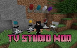 Мод Tv studio для майнкрафт 1.15.2, 1.14.4, 1.12.2
