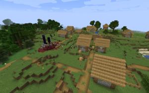 Деревня и разрушенный портал 1.16.x
