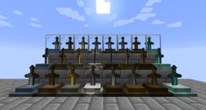Мод Sword Displays для майнкрафт 1.15.2