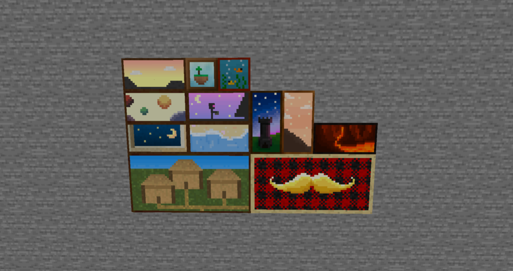 Мод Dark Paintings для майнкрафт 1.17, 1.16.5, 1.15.2