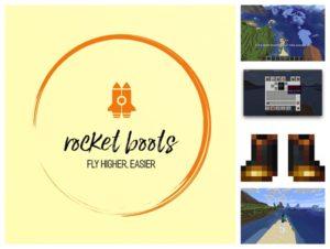 Мод Rocket Boots для майнкрафт 1.15.2, 1.14.4, 1.12.2