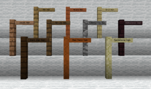 Мод Custom Signposts 1.16.4, 1.14.4, 1.12.2