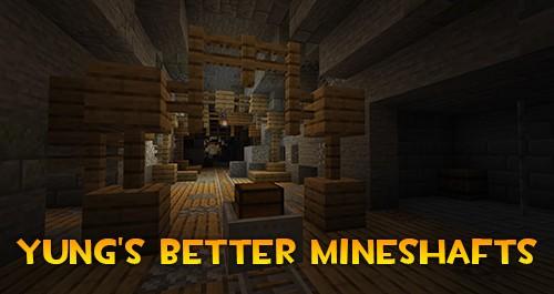 Мод YUNG's Better Mineshafts для майнкрафт 1.16.4, 1.15.2, 1.12.2