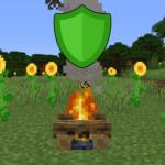 Мод No Hostiles Around Campfire для майнкрафт 1.16.3, 1.15.2, 1.14.4