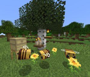 Мод Buzzier Bees для майнкрафт 1.16.1, 1.15.2