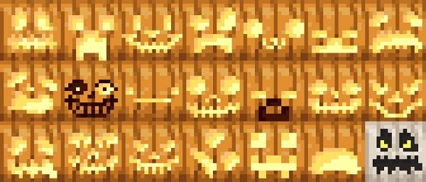 Текстурпак More Pumpkin Faces [16x] для Майнкрафт 1.16.3