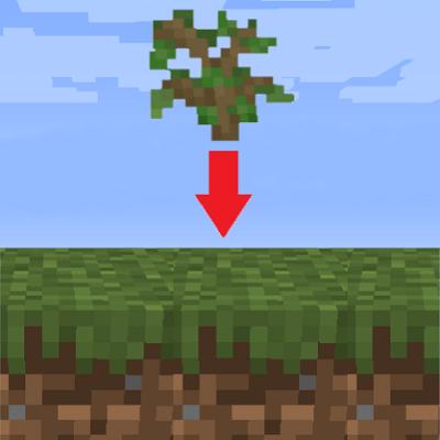 Мод Self-Planting Saplings для Майнкрафт 1.15.2