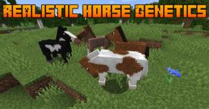 Мод Realistic Horse Genetics для майнкрафт 1.16.5, 1.15.2, 1.14.4, 1.12.2