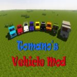 Мод Tomano's Vehicle - реалистичные машины для Майнкрафт 1.12.2