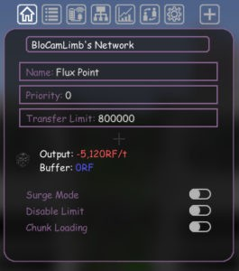 Мод Flux Networks для Майнкрафт 1.16.5, 1.15.2, 1.12.2