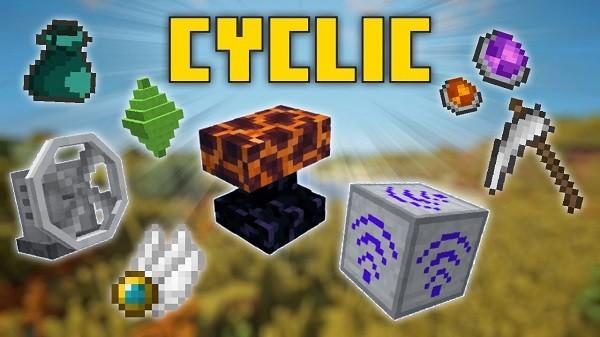 Мод Cyclic для майнкрафт 1.16.5, 1.15.2, 1.14.4, 1.12.2