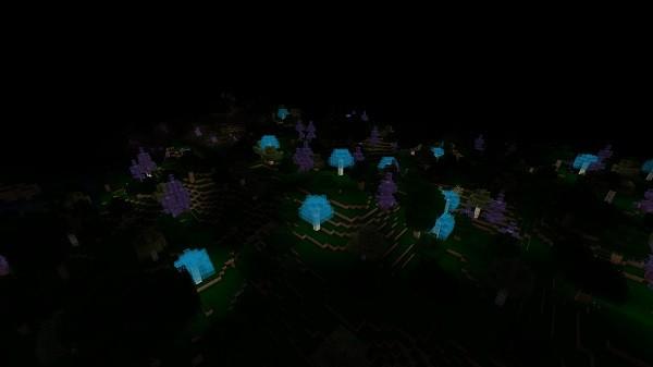 Мод Neverdark 1.16.4, 1.15.2 (измерение темноты)