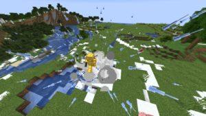 Мод Snow Mercy 1.16.4 (атака снеговиков)