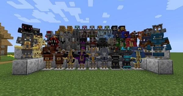 Мод MC Dungeons Armors 1.16.4 (броня из Minecraft Dungeons)