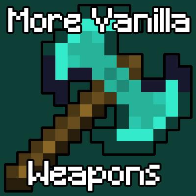 Мод MoreVanillaWeapons 1.16.4 (ванильные инструменты и оружие)