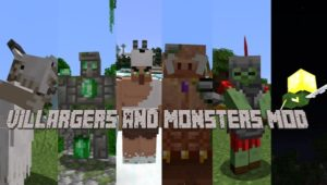 Мод Villargers And Monsters 1.16.4, 1.15.2 (боссы, измерения, данжи)