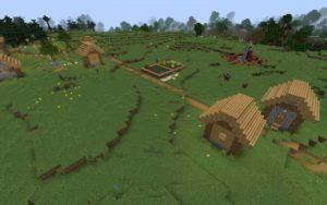 Меса, деревня и разрушенный портал 1.16.5